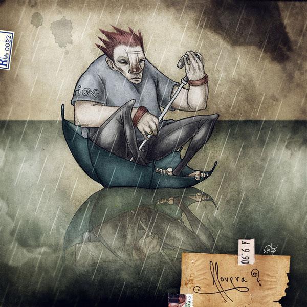 llovera 30 Ilustraciones en la lluvia
