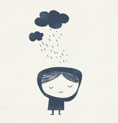 llueve 30 Ilustraciones en la lluvia