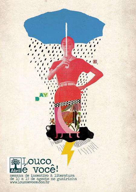 loucoevoce 30 Ilustraciones en la lluvia
