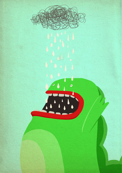 menjapulges 30 Ilustraciones en la lluvia