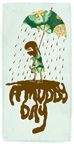 muddy 30 Ilustraciones en la lluvia