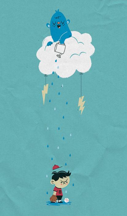 naturehatesyou 30 Ilustraciones en la lluvia