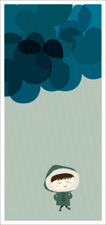 otoño 30 Ilustraciones en la lluvia