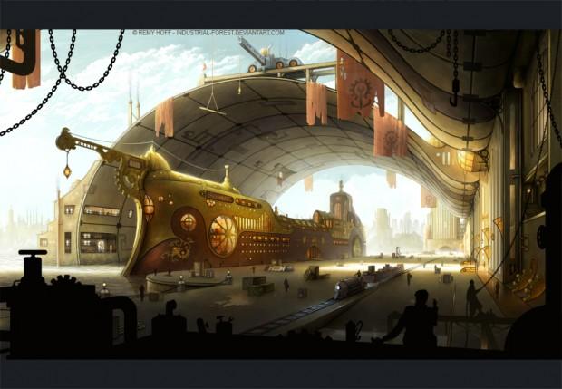 mundos steampunk Industrial-Forest-620x429