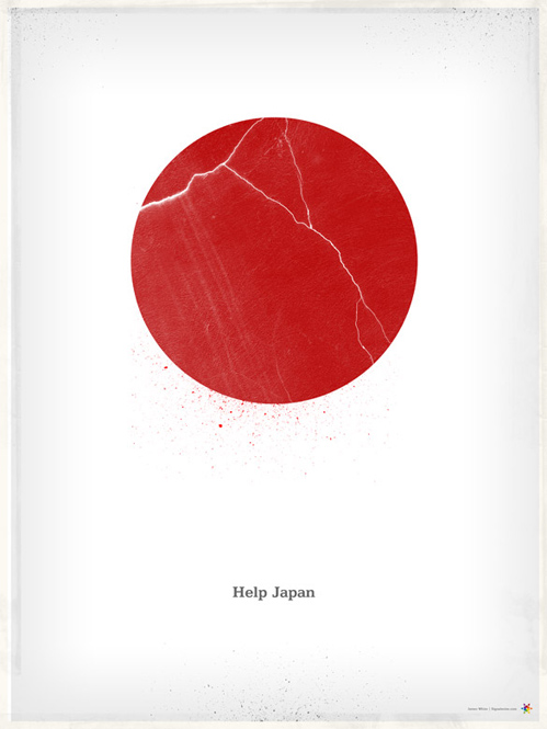 James White - Help Japan Poster