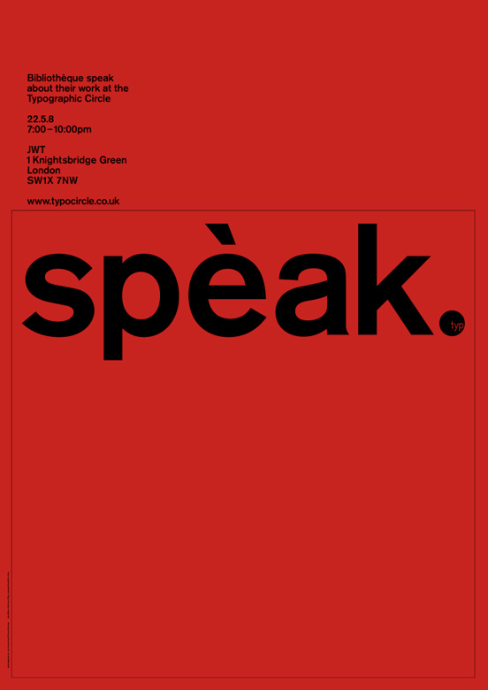 Society of Typographic Designers lecture