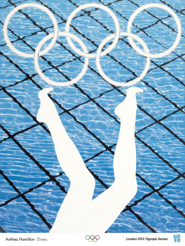 Anthea Hamilton Divers: an official London 2012 Olympic poster
