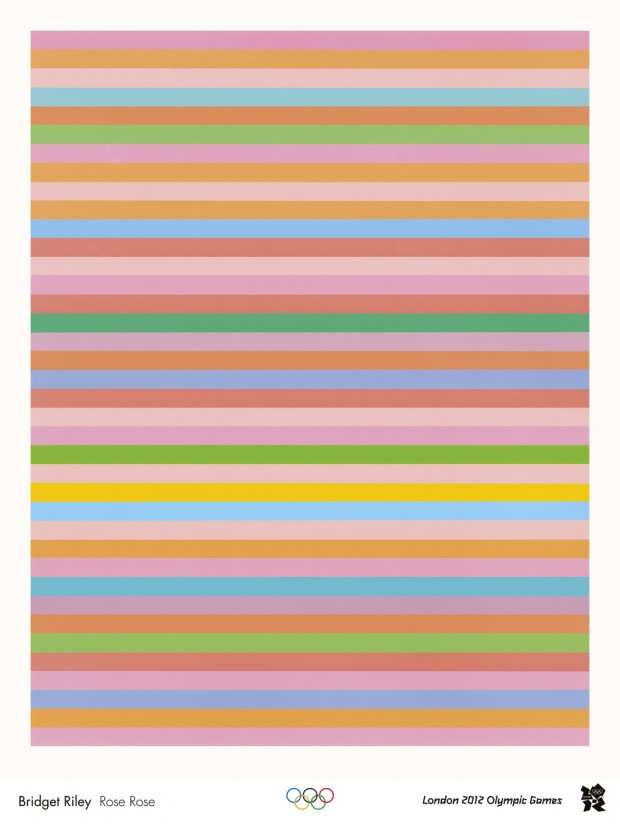 Bridget Riley Rose Rose: an official London 2012 Olympic poster