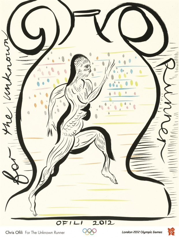 Chris Ofili For the Unknown Runner: an official London 2012 Olympic poster