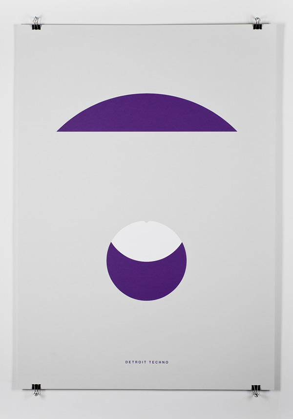 Carteles minimalistas en el día del músico!