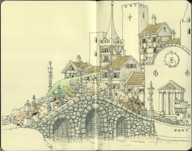 fantastico borrador-sketch de artista sueco