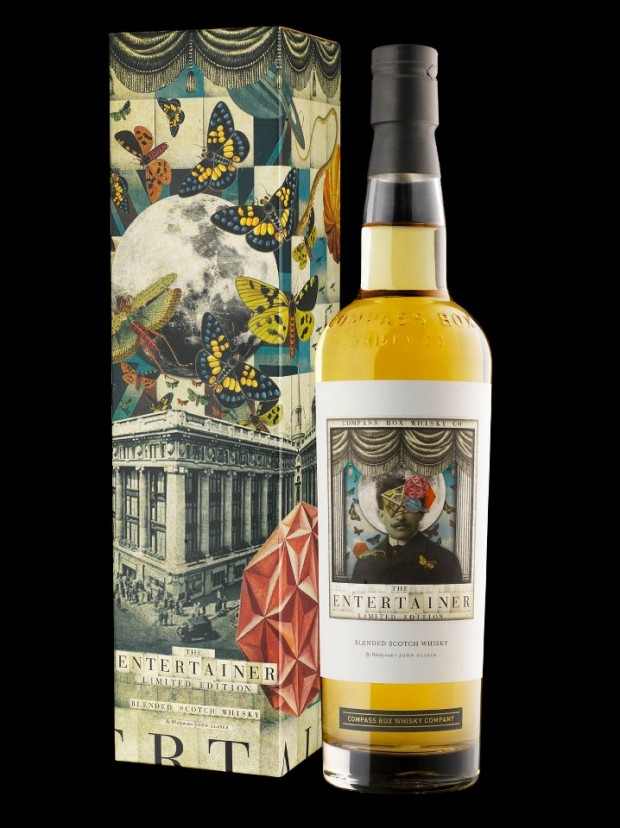 "Compass Box Whisky. Ganador del premio ""Mejor lanzamiento"" en The World Whiskies Design Awards"