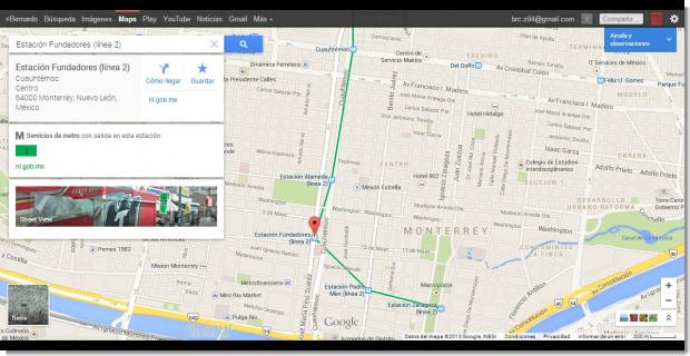 Los datos para selección de rutas en transporte público también son muy fácil de accesar.