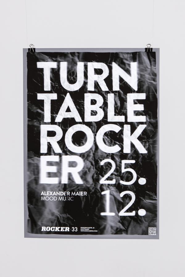 Rocker337 Ingeniosos carteles realizados con estructuras 3D y un proyector