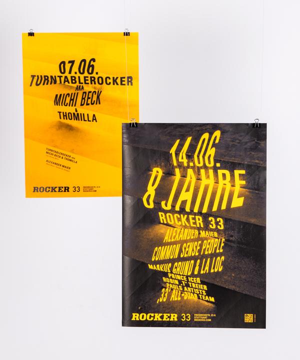Rocker338 Ingeniosos carteles realizados con estructuras 3D y un proyector