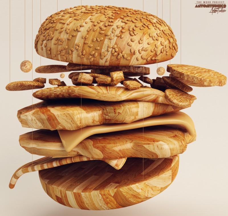 Wooden Burger