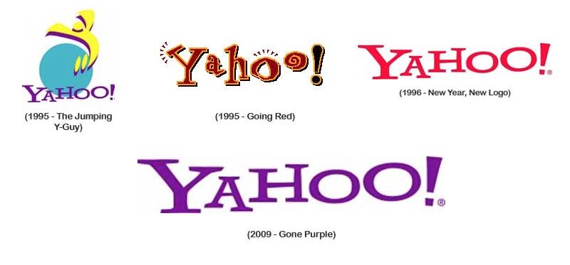 La identidad de Yahoo! a través de los años