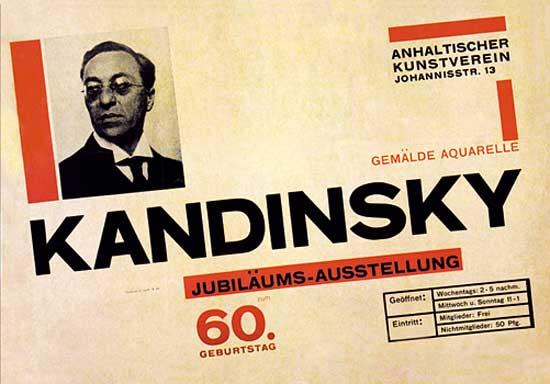 """Poster para la exhibición """"Kandinsky"""" - Herbert Bayer"""