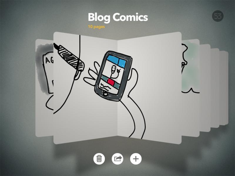 Paper App y uno de los dibujos que hice para un post anterior