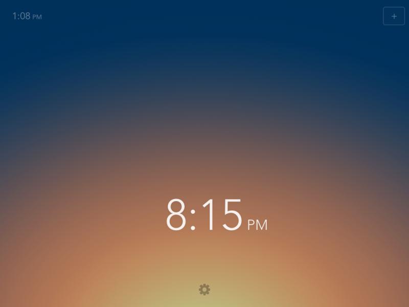 Rise app, con su realmente minimalista interfaz que te permite deslizar la hora para escoger la indicada.
