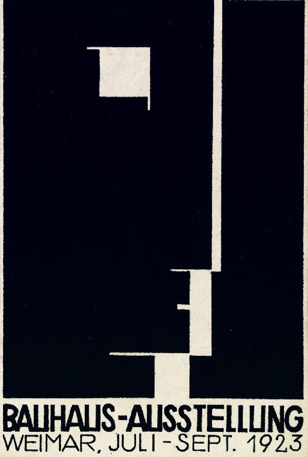Postal para la exhibición de la Bauhaus en 1923 - Herbert Bayer