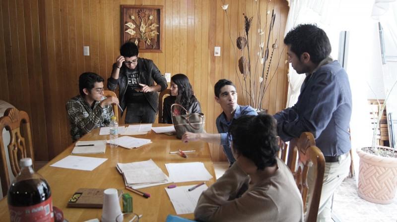 Durante el taller de 25Horas de diseño web en Pachuca, Hidalgo