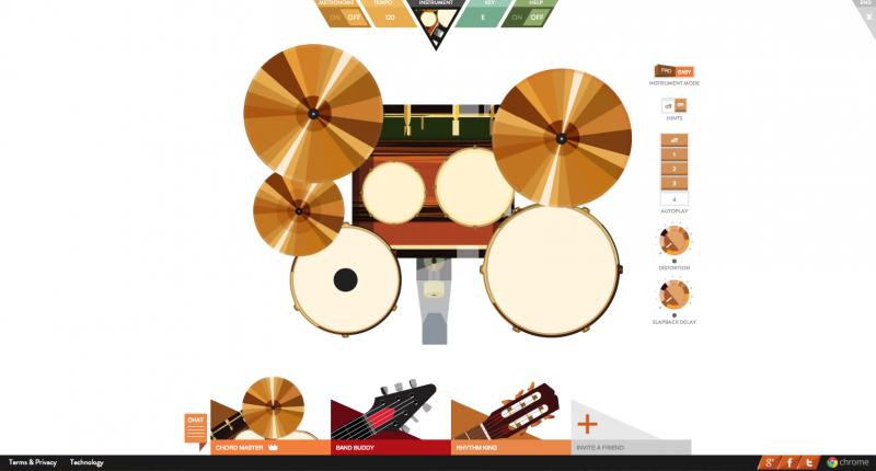 Jam With Chrome: Un experimento para tocar en vivo animando ilustraciones vectoriales en SVG