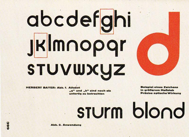 Universal font - Herbert Bayer