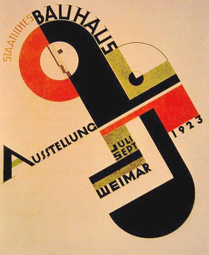 Poster para la exhibición de la Bauhaus en 1923  - Joost Schmidt